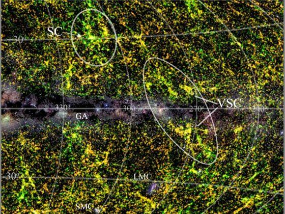 Το νεο ανακαλυφθέν υπερσμήνος Vela προς τον αστερισμό Vela - στην ελληνική (τα) Ιστία - που παλιότερα ήταν τμήμα (τα ιστία) του αστερισμού της Αργούς.