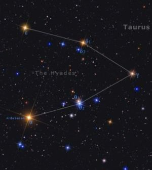 Hyades; open star cluster.
