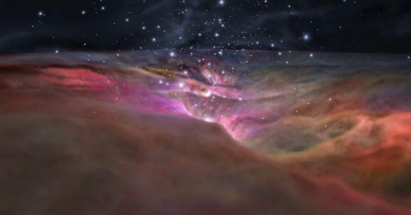 Τα διαστημικά τηλεσκόπια της NASA σας προσκαλούν για μια 3-D εκδρομή μέσω του νεφελώματος του Ωρίωνα