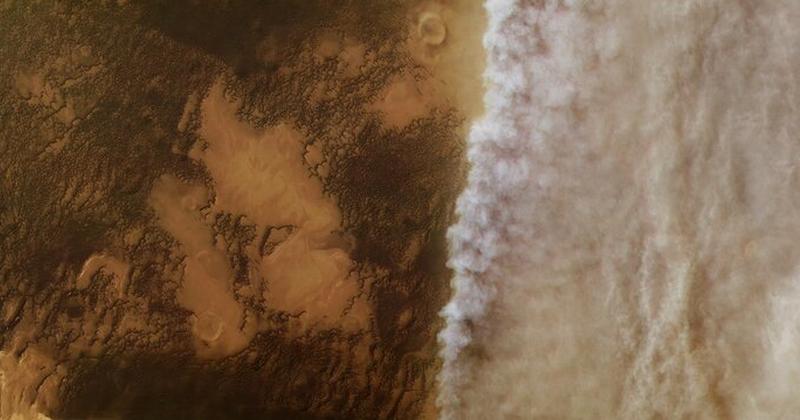 Η απώλεια του νερού του Άρη επηρεάζεται από τις εποχές και τις καταιγίδες